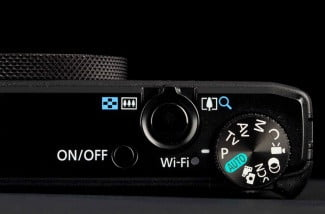 canon powershot S110 mode dial zoom lever on-off switch