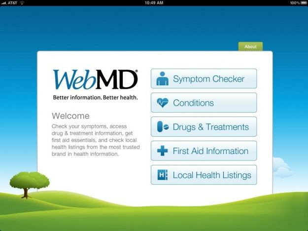 WebMD_iPad_app_screenshot