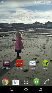 Sony Xperia Z2 screenshot home screen