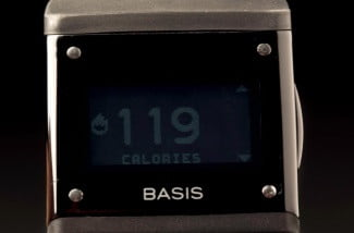 Basis Watch review front screen