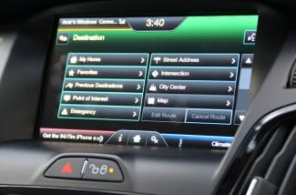 ford electric focus navigation