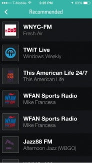 TuneIn-recommended