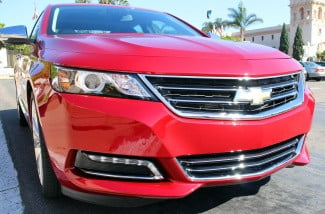 2014 chevrolet impala red front right angle macro