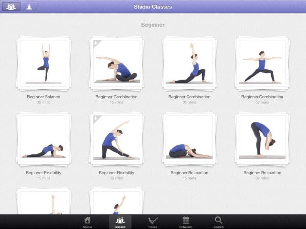 Yoga_Studio_iPad_app_screenshot
