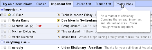 Gmail inbox organization