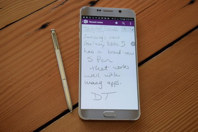 OneNote Note 5 app