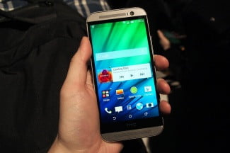 HTC One M8 hands on front