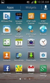 Samsung Galaxy Rugby Pro Review screenshot home grid