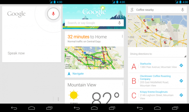 Google Now Screens