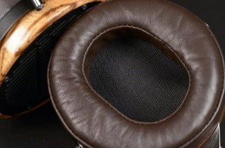 audeze lcd3 professional reference headphone zebrano wood ear cup macro