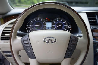 2013 Infiniti QX562013 interior steering wheel macro