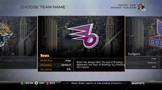 Madden NFL 25 Playbooks 3 and 4 Connected Franchise choose team name