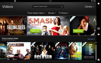 kindle fire hd 8.9 screenshot video library
