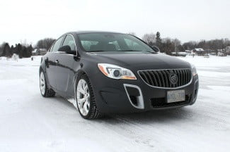 2014 Buick Regal GS AWD front angle 1