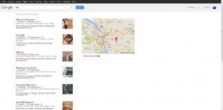 Google conquers cartography go to results screenshot
