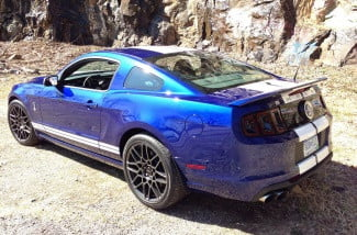 Ford Mustang Shelby GT 500 rear left angle