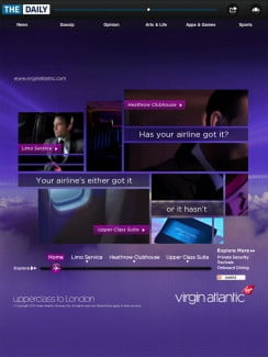 The Daily: Virgin Atlantic ad
