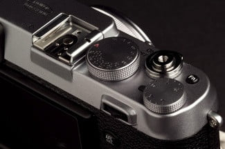 Fujifilm X100S Camera buttons left angle