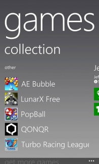 Nokia Lumia 928 screenshot games
