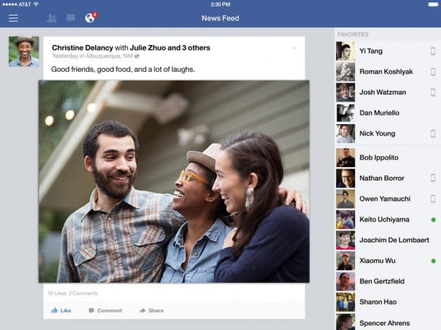 Facebook_iPad_app_screenshot