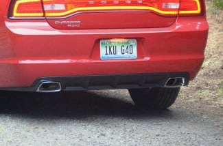 2013 Dodge Charger V6 AWD dual exhaust