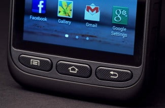 Samsung Galaxy Rugby Pro Review bottom buttons