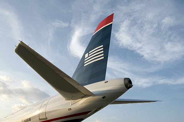 us airways makes final flight left tail