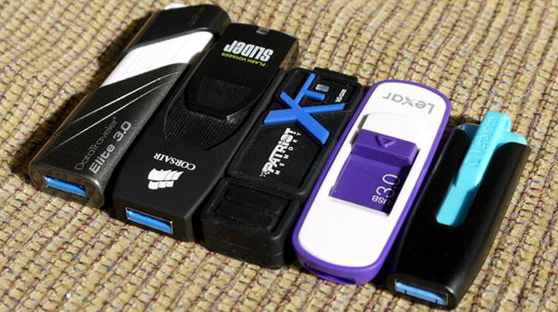 USB 3.0 drive lineup corsair verbatim lexar patriot kingston external storage