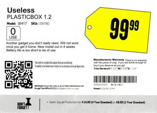 Useless Gadget Best Buy info card
