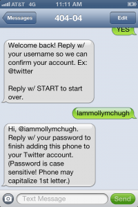 activating username