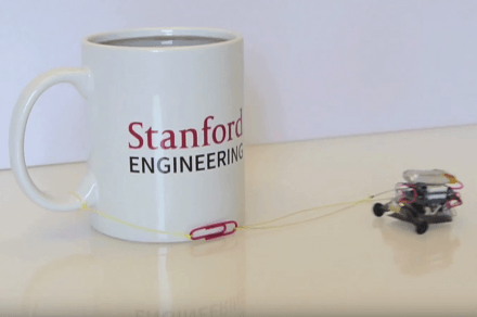 Watch this tiny robot drag a