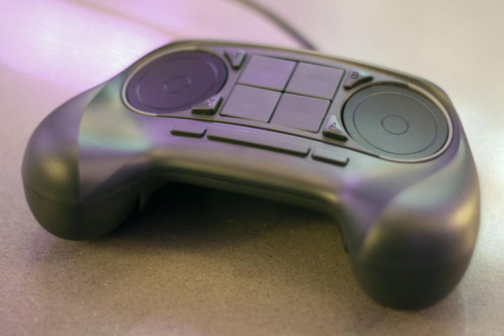 Valve Steam Machine Controller hands on top buttons
