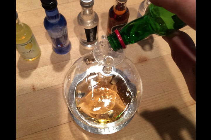vaportini is the best way to get drunk and increase your flammability ever invented alcohol pour top view