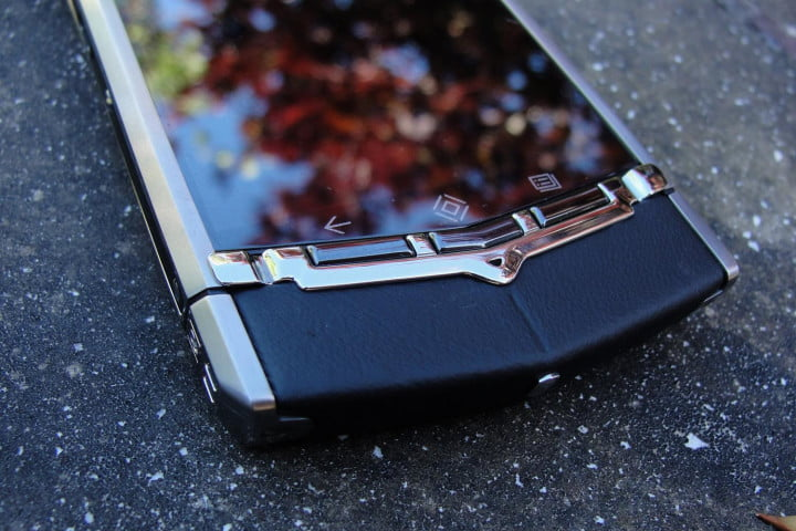 vertu ti what its like phone front buttons macro