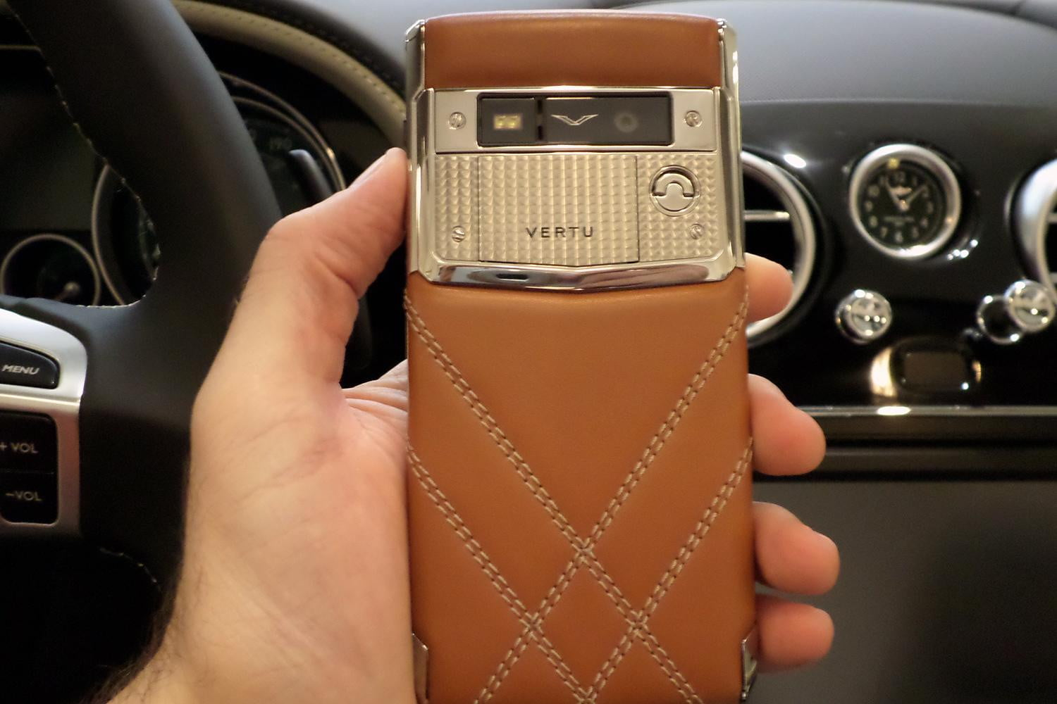 Hands on with the vertu for bentley smartphone digital for Motor trend phone number