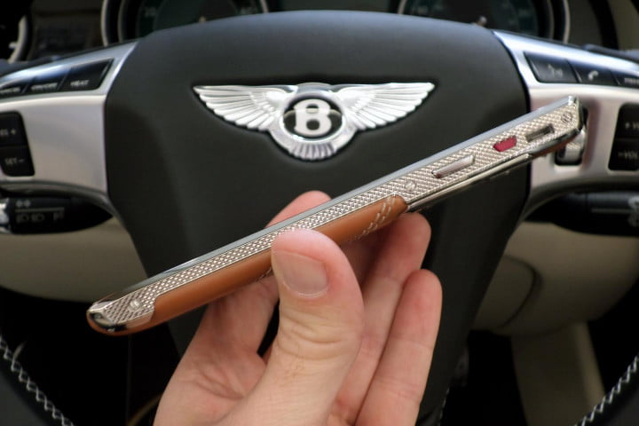 vertu for bentley hands on signature touch