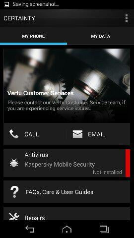 vertu signature touch review screenshot