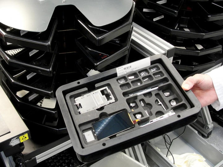 inside the vertu factory tour component tray
