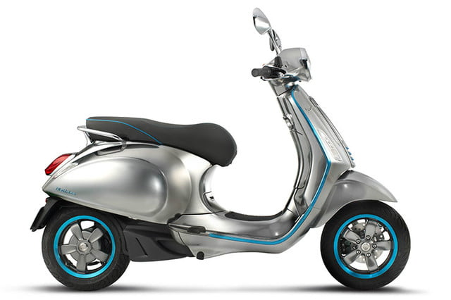 electric vespa unveiled at eicma elettrica scooter
