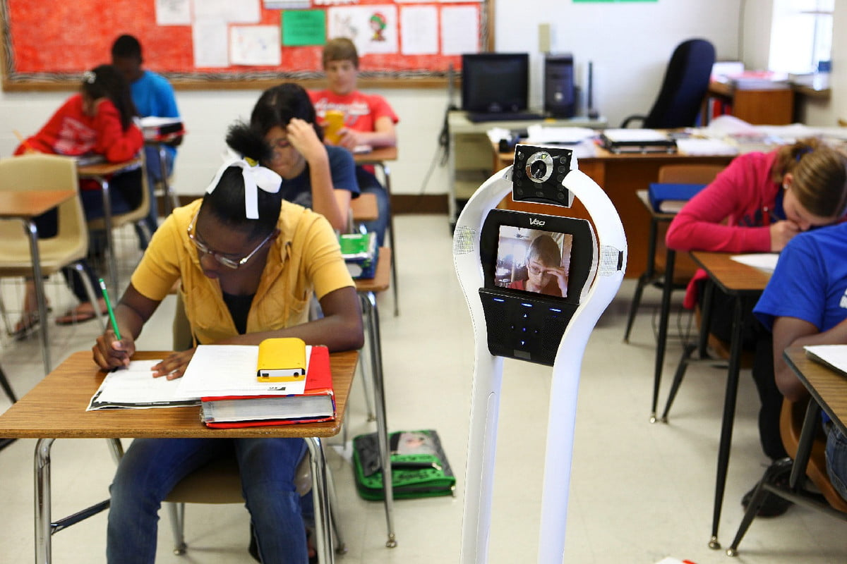 telepresence robots study vgo student in class hires