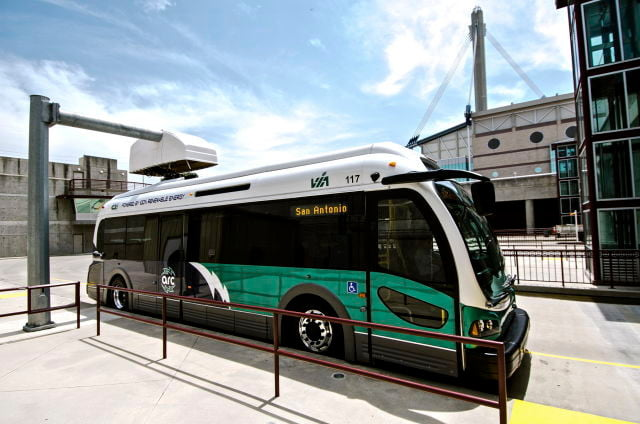proterra electric bus fast recharge via sa charger reduced  x