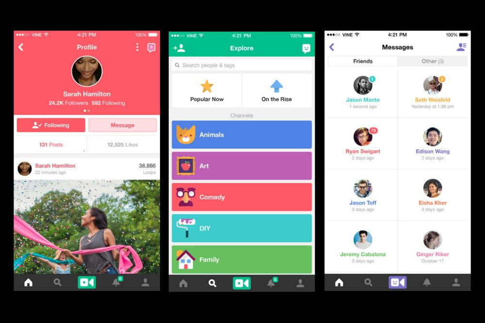 vine for ios update lets you follow channels and post straight from photos app