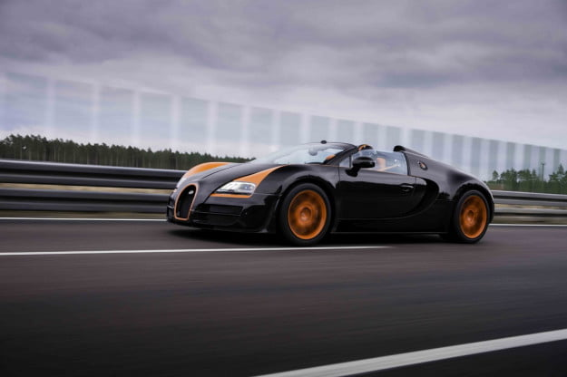 Bugatti Veyron Grand Sport Vitesse on track