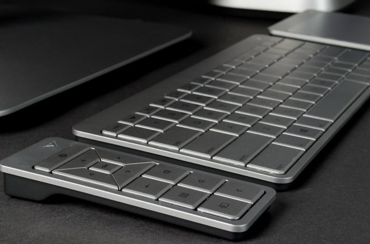 vizio  inch touch all in one amd review keyboard angle