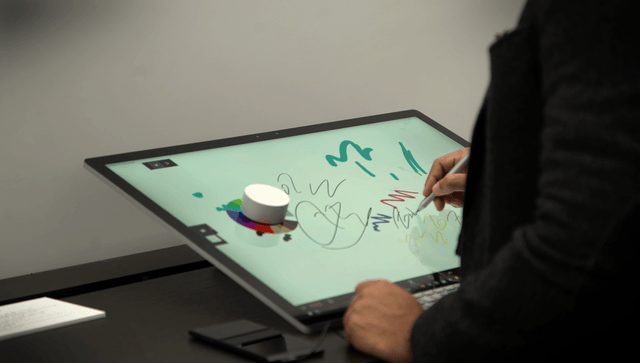 microsoft surface studio light vr only hands on