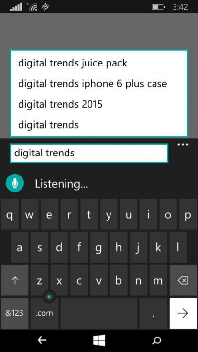 windows  technical preview phone hands on voice to text