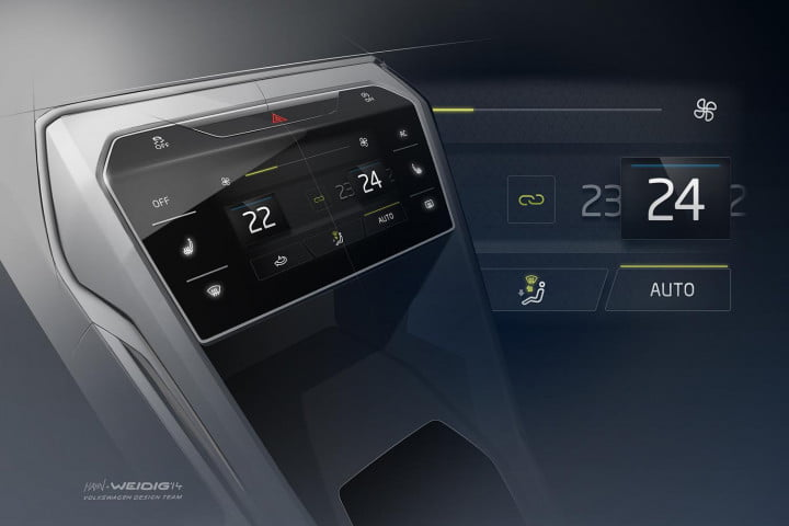tablet based infotainment t top roof design makes vws roc perfect tech savvy rock crawlers volkswagen concept console