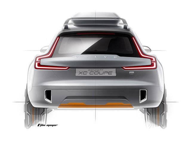 detroit auto show volvo to unveiled concept xc coupe teaser