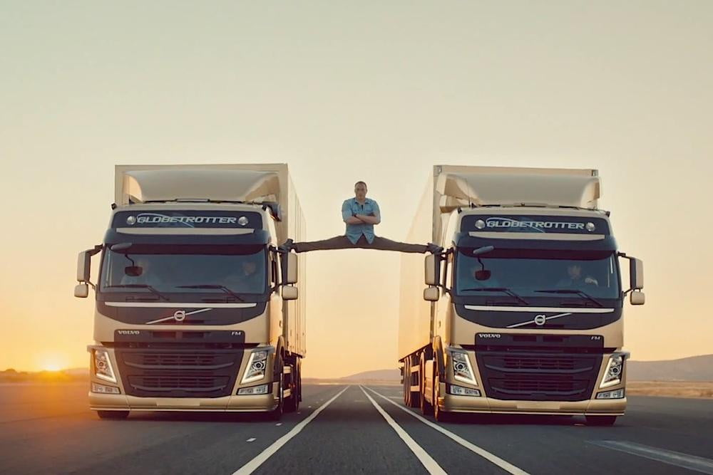 cry heart ron burgundy volvo trucks new jean claude van damme ads even better