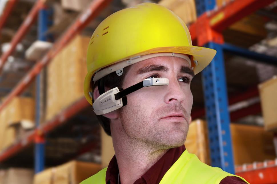 Warehouse workers can wear the Vuzix M100, too.